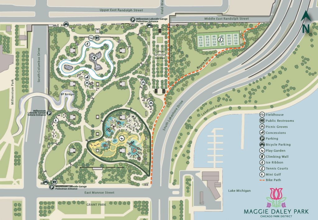 Maggie Daley Park Full Map